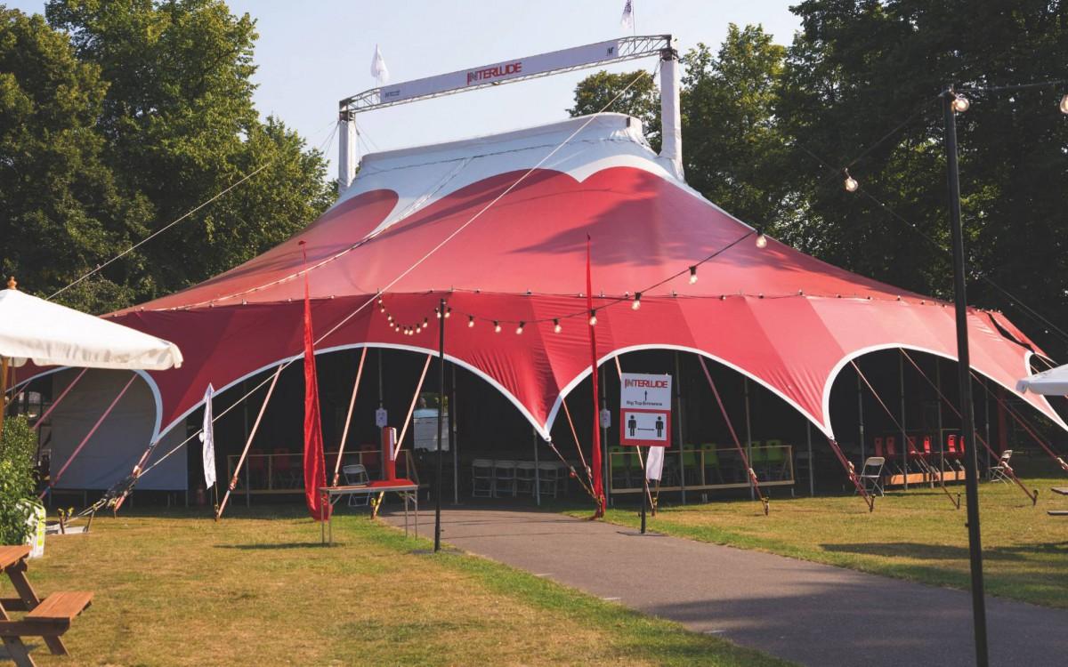 Interlude's big top tent