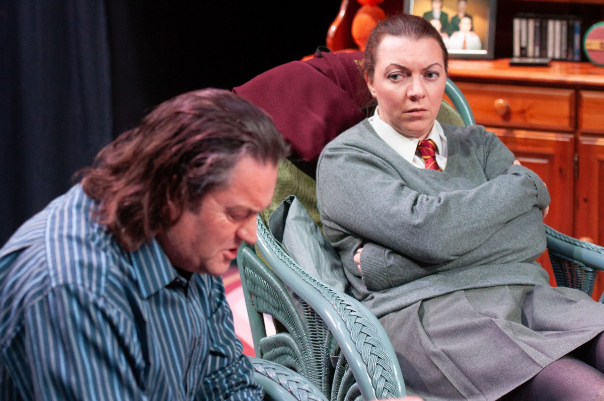 Jonathan Redding and Emma Kirkham in Love Love Love. Photo: Barry Parsons