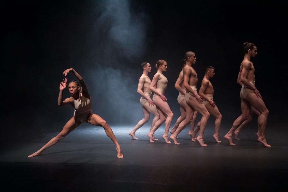 Rambert2 dancers in Sharon Eyal's Killer Pig. Photo: Deborah Jaffe